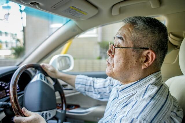 70代男性の運転
