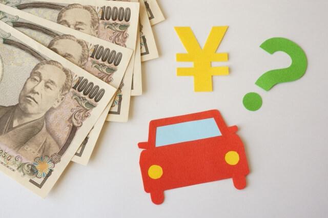 お金と自動車の絵