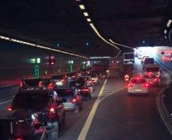 渋滞の起こっている道路